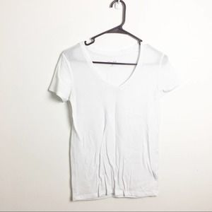 Mudd Short Sleeve Tee Solid White Juniors Small